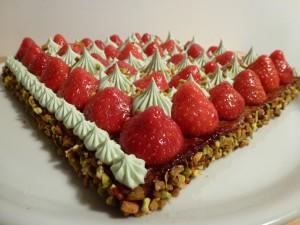 Tarte aux fraises et sa crème à la pistache, façon Christophe Michalak dans Tartes p1000615-300x225